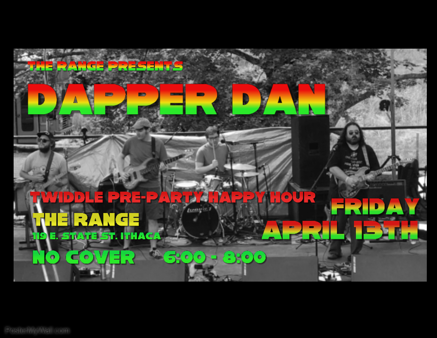 dapper dan twiddle state pre-party party pre preparty preshow reggae delta live music free downtown ithaca the range show happy hour