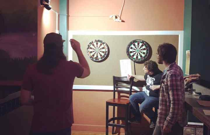 Dartboards are here at #therangeithaca !